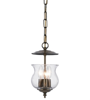 Picture for category Pendants 3 Light With Antique Brass Glass Candelabra 7 inch 180 Watts - World of Lighting