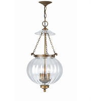 Picture for category Pendants 3 Light With Antique Brass Glass Brass Candelabra 12 inch 180 Watts - World of Lighting