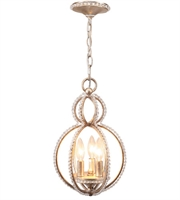 Picture for category Mini Chandeliers 3 Light With Distressed Twilight Hand Cut Crystal Beads Wrought Iron 10 inch 180 Watts - World of Lighting