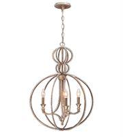 Picture for category Mini Chandeliers 3 Light With Distressed Twilight Hand Cut Crystal Beads Wrought Iron 18 inch 180 Watts - World of Lighting