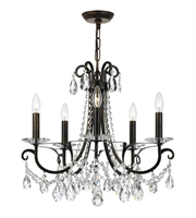 Picture for category Chandeliers 5 Light With English Bronze Clear Hand Cut Steel Crystal 21 inch 300 Watts - World of Lighting
