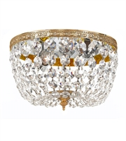 Picture for category Flush Mounts 2 Light With Olde Brass Clear Swarovski Strass Crystal 10 inch 120 Watts - World of Lighting