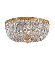 Picture for category Flush Mounts 3 Light With Olde Brass Clear Italian Crystal 12 inch 180 Watts - World of Lighting