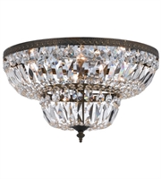 Picture for category Flush Mounts 4 Light With English Bronze Clear Hand Cut Crystal Cast Brass 18 inch 240 Watts - World of Lighting