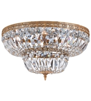 Picture for category Flush Mounts 6 Light With Olde Brass Clear Hand Cut Crystal 24 inch 360 Watts - World of Lighting
