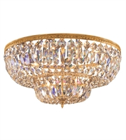 Picture for category Flush Mounts 6 Light With Olde Brass Clear Spectra Crystal 24 inch 360 Watts - World of Lighting