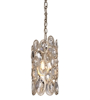 Picture for category Pendants 1 Light With Distressed Twilight Hand Cut Crystal Steel Medium 6 inch 60 Watts - World of Lighting