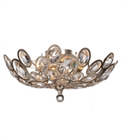 Picture for category Flush Mounts 3 Light With Distressed Twilight Hand Cut Crystal 16 inch 180 Watts - World of Lighting