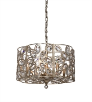 Picture for category Chandeliers 6 Light With Distressed Twilight Hand Cut Crystal Steel and Crystal 18 inch 360 Watts - World of Lighting