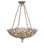 Picture for category Chandeliers 5 Light With Distressed Twilight Hand Cut Crystal Steel and Crystal 24 inch 300 Watts - World of Lighting