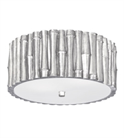 Picture for category Semi Flush Mounts 2 Light With Antique Silver Glass Steel 11 inch 120 Watts - World of Lighting