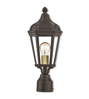 Picture for category Livex Lighting 76184-07 Outdoor Post Light Bronze Cast Aluminum Morgan