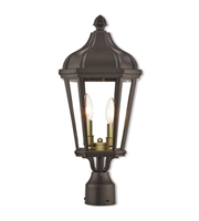 Picture for category Livex Lighting 76188-07 Outdoor Post Light Bronze Cast Aluminum Morgan