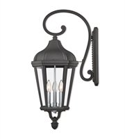 Picture for category Livex Lighting 76192-14 Wall Sconces Textured Black Cast Aluminum Morgan
