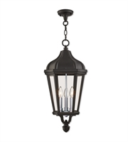 Picture for category Livex Lighting 76193-14 Outdoor Pendant Textured Black Cast Aluminum Morgan