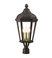 Picture for category Livex Lighting 76194-07 Outdoor Post Light Bronze Cast Aluminum Morgan