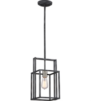 Picture for category Nuvo Lighting 60/5860 Mini Pendants Iron Black with Brushed Nickel Accents Lake