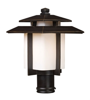 Picture for category Outdoor Post 1 Light With Hazelnut Bronze Finish Medium Base 15 inch 100 Watts - World of Lamp