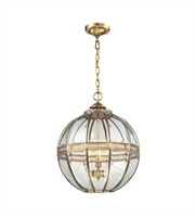 Picture for category Pendants 3 Light With Brushed Brass Finish Candelabra 16 inch 180 Watts - World of Lamp