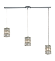Picture for category Chandeliers 3 Light With Polished Chrome Finish Candelabra Base 36 inch 180 Watts - World of Lamp