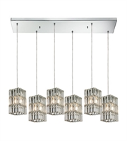 Picture for category Chandeliers 6 Light With Polished Chrome Finish Candelabra 30 inch 360 Watts - World of Lamp