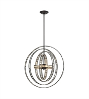 Picture for category Pendants 6 Light With Oil Rubbed Bronze Finish G9 24 inch 240 Watts - World of Lamp