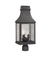 Picture for category Outdoor Post Light 3 Light With Charcoal Finish Candelabra 23 inch 180 Watts - World of Lamp