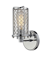 Picture for category Wall Sconces 1 Light With Polished Chrome Finish Medium Base 5 inch 100 Watts - World of Lamp