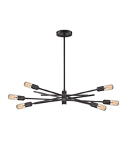 Picture for category Chandeliers 6 Light With Oil Rubbed Bronze Medium Base 36 inch 360 Watts - World of Lamp