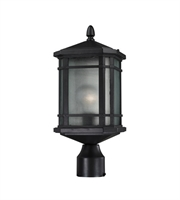 Picture for category Outdoor Post 1 Light With Matte Black Finish Medium Base Bulb Type 17 inch 100 Watts - World of Lamp