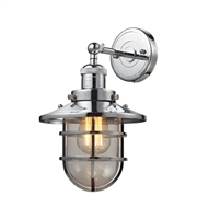 Picture for category Wall Sconces 1 Light With Polished Chrome Finish Medium Base 8 inch 60 Watts - World of Lamp