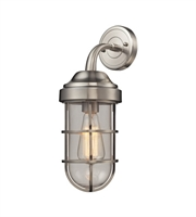 Picture for category Wall Sconces 1 Light With Satin Nickel Finish Medium Base 6 inch 60 Watts - World of Lamp