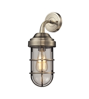 Picture for category Wall Sconces 1 Light With Antique Brass Finish Medium Base 6 inch 60 Watts - World of Lamp