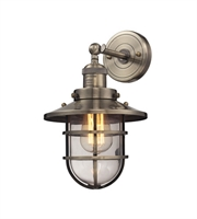Picture for category Wall Sconces 1 Light With Antique Brass Finish Medium Base 8 inch 60 Watts - World of Lamp
