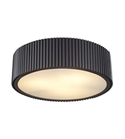 Picture for category Flush Mounts 3 Light With Oil Rubbed Bronze Finish Medium Base 17 inch 180 Watts - World of Lamp