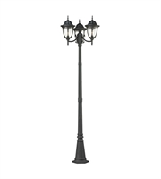 Picture for category Outdoor Post Light 3 Light With Textured Matte Black Finish Medium Base 91 inch 300 Watts - World of Lamp