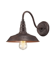 Picture for category Wall Sconces 1 Light With Weathered Bronze Finish Medium Base 10 inch 60 Watts - World of Lamp