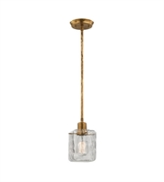 Picture for category Pendants 1 Light With Antique Gold Leaf Finish Clear Glass Medium Base 5 inch 60 Watts - World of Lamp
