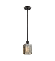 Picture for category Pendants 1 Light With Oil Rubbed Bronze Finish Teak Glass Medium Base 5 inch 60 Watts - World of Lamp