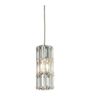 Picture for category Pendants 1 Light With Polished Chrome Finish Candelabra 3 inch 60 Watts - World of Lamp