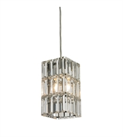 Picture for category Pendants 1 Light With Polished Chrome Finish Candelabra Base 4 inch 60 Watts - World of Lamp