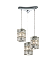 Picture for category Chandeliers 3 Light With Polished Chrome Finish Candelabra 10 inch 180 Watts - World of Lamp