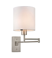 Picture for category Wall Sconces 1 Light With Brushed Nickel Finish Medium Base 7 inch 75 Watts - World of Lamp