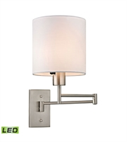Picture for category Wall Sconces 1 Light LED With Brushed Nickel Finish 7 inch 13.5 Watts - World of Lamp