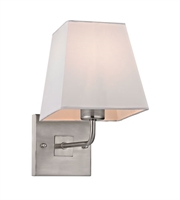 Picture for category Wall Sconces 1 Light With Brushed Nickel Finish Medium Base 6 inch 75 Watts - World of Lamp