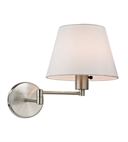 Picture for category Wall Sconces 1 Light With Brushed Nickel Finish Medium Base 9 inch 75 Watts - World of Lamp