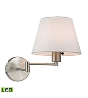 Picture for category Wall Sconces 1 Light LED With Brushed Nickel Finish 9 inch 13.5 Watts - World of Lamp
