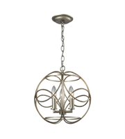 Picture for category Pendants 3 Light With Aged Siler Finish Candelabra 14 inch 180 Watts - World of Lamp