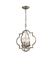 Picture for category Pendants 4 Light With Aged Silver Finish Candelabra 14 inch 240 Watts - World of Lamp