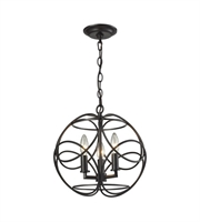 Picture for category Pendants 3 Light With Oil Rubbed Bronze Finish Candelabra 14 inch 180 Watts - World of Lamp